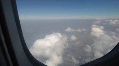 avion, avioni, nebo, oblaci