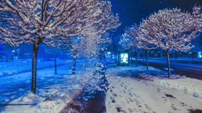 zima, banjaluka, snijeg, ulice