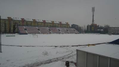 Gradski stadion u Banjaluci, stadion Banjaluka, FK Borac, snijeg