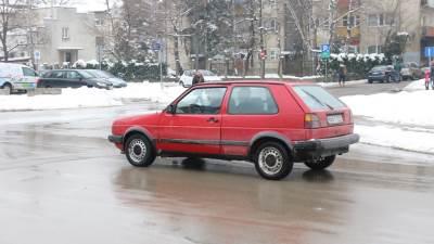 golf, auto, saobraćaj, snijeg, putevi