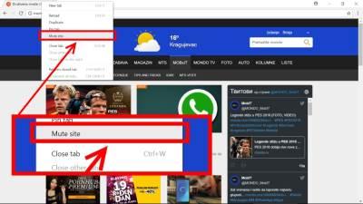 Chrome, Mute Site, Unmute Site