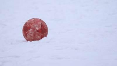 lopta, snijeg, pokrivalica, fudbal