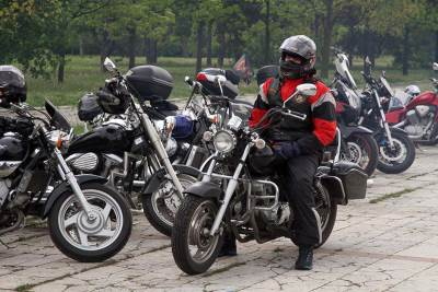 bajkeri, motocikli, motori, ušće