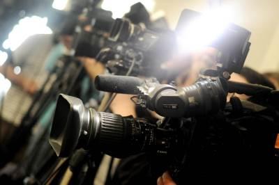 snimatelj, novinar, konferencija, kamera, reporter