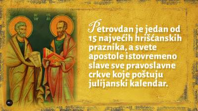 Sveti apostoli Pavle i Petar Petrovdan