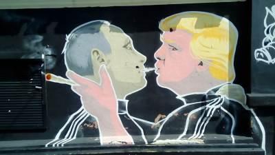 Tramp i Putin, Donald Tramp, Vladimir Putin, Vilnjus, Litvanija