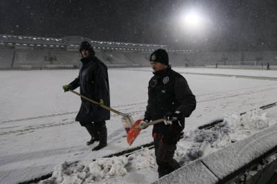 Partizan, sneg, snežni uslovi, sneg na stadionu