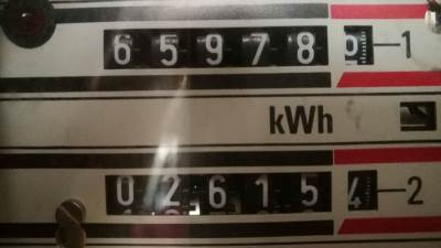 Struja, električna energija, sat, brojilo