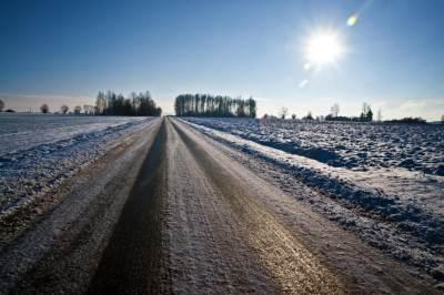 led na putu, zaleđen put, black ice