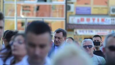 Dodik na protestu Pravda za Davida