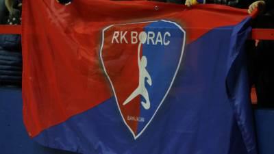 RK Borac m:tel logo, pokrivalica