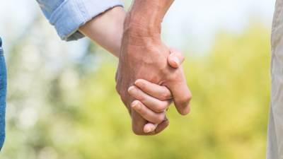 ljubav, par, ruke