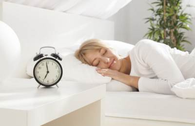 žena, spavanje, odmor, sat, opuštanje, vreme