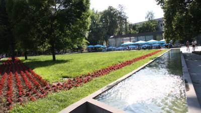 park, petar kočić, odmor, klupe, staklenac, fontana