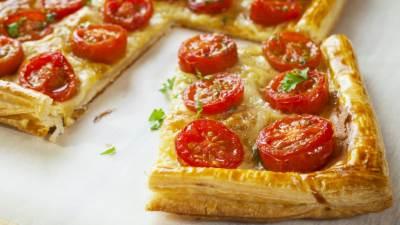 tart, paradajz, lisnato testo