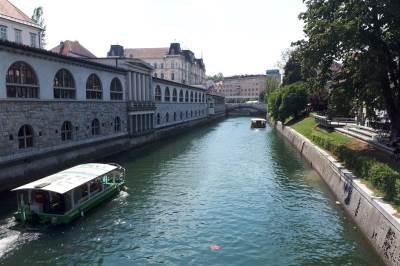 ljubljana, slovenija, ljubljanica, reka, kanal