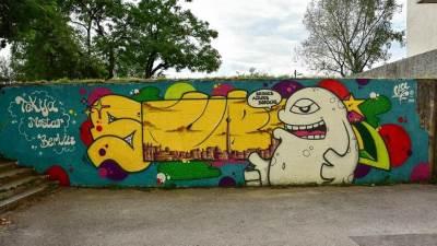 mural, mostar