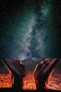 Fotografija noćnog neba iznad Tjentišta