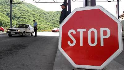 granični prelaz, granica, policija, znak stop