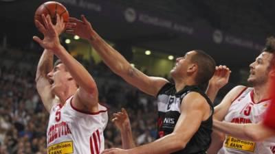 Saša Pavlović i Tomislav Zubčić na utakmici Partizan - Cedevita