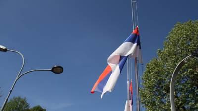 dan žalosti, zastava
