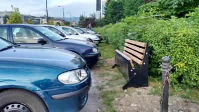 sarajevo, parking, klupa